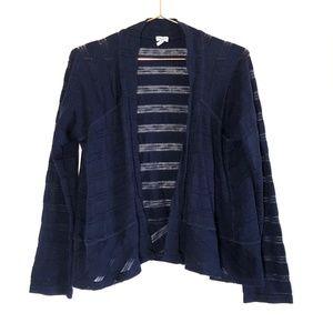 {Splendid} Navy Open Front Knit Cardigan